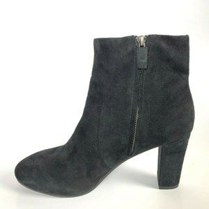 Eileen Fisher Shoes - Eileen Fisher Black Suede High Hill Booties Zip